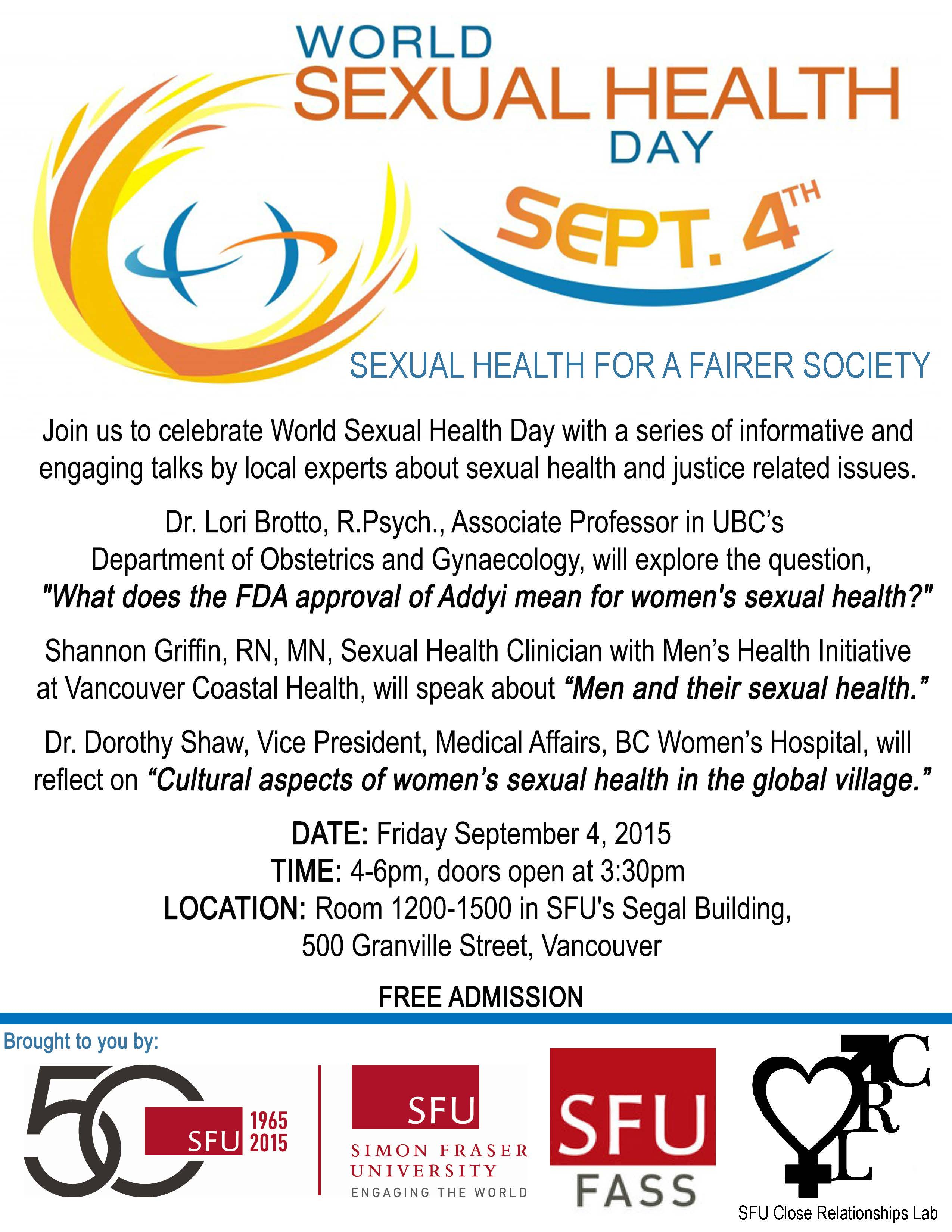 World Sexual Health Day 4 September